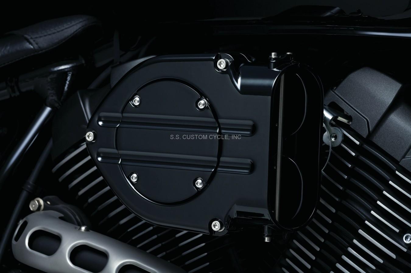 Hypercharger Yamaha Bolt Gloss Black on Custom Yamaha Road Star Warrior