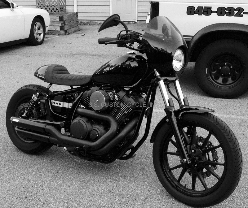 cafe-racer fender/seat kit for yamaha bolt - ss custom cycle