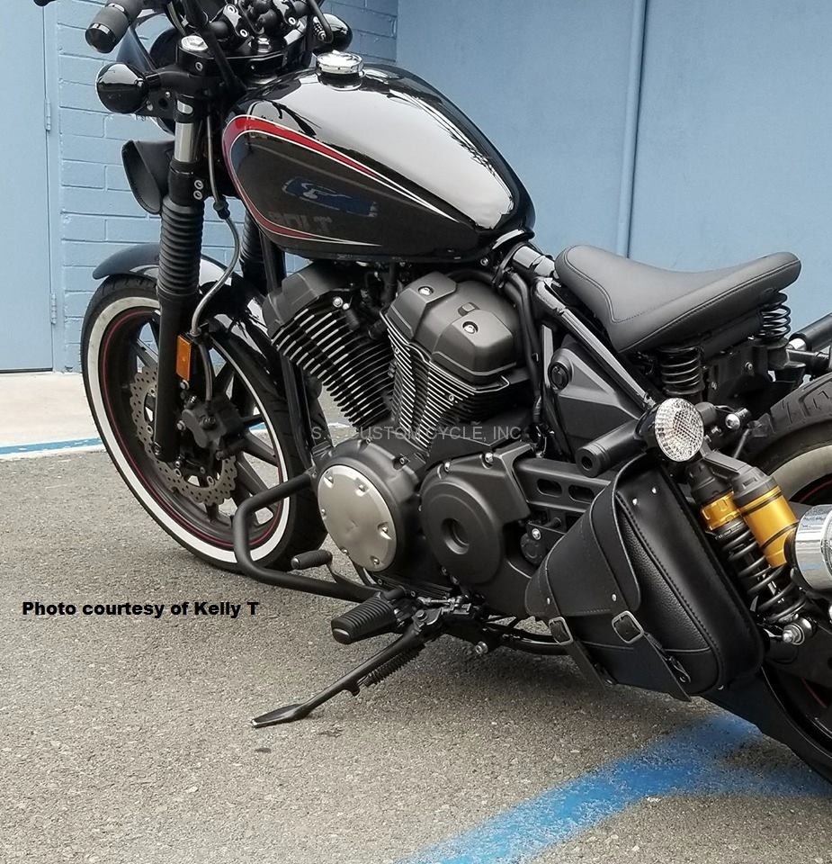 single side swingarm bag for yamaha bolt ss custom cycle