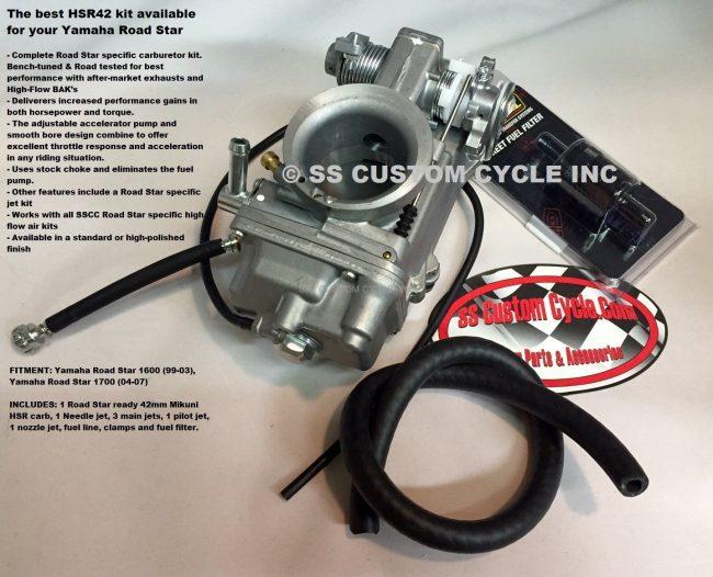HSR 42 Carburetor Kit for Road Star - SS Custom Cycle Yamaha Road Star Wiring Diagram on