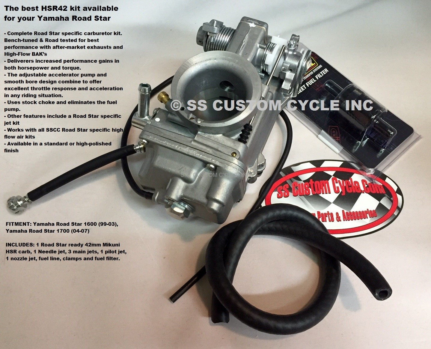 Sscc Hsr 42 Performance Carburetor Kit Ss Custom Cycle 2002 Yamaha Roadstar Warrior Wiring Harness Free