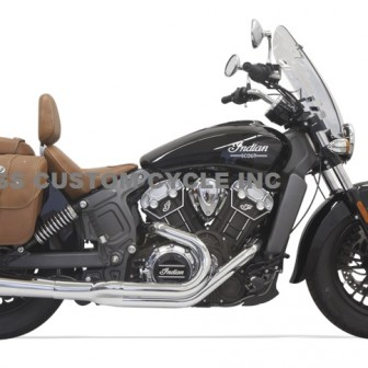 Bassani Road Rage 2 into 1 for Indian Scout -Chrome