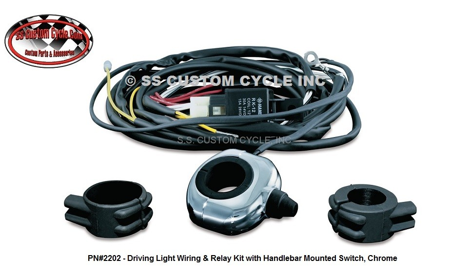 Fine Universal Driving Light Wiring Relay Kits Ss Custom Cycle Wiring 101 Akebretraxxcnl