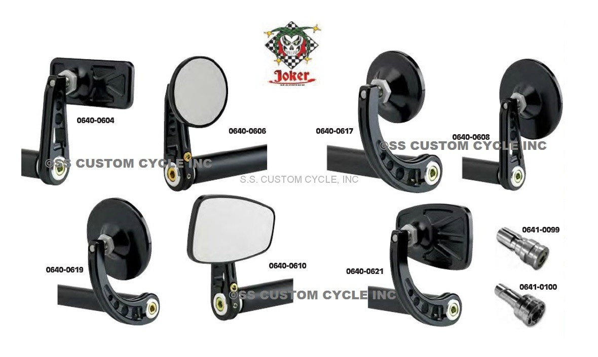 Bar End Mirrors.Universal Bar End Mirrors
