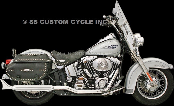BASSANI POWER CURVE TRUE-DUAL CROSSOVER HEADER PIPES FOR SOFTAIL '07-'17