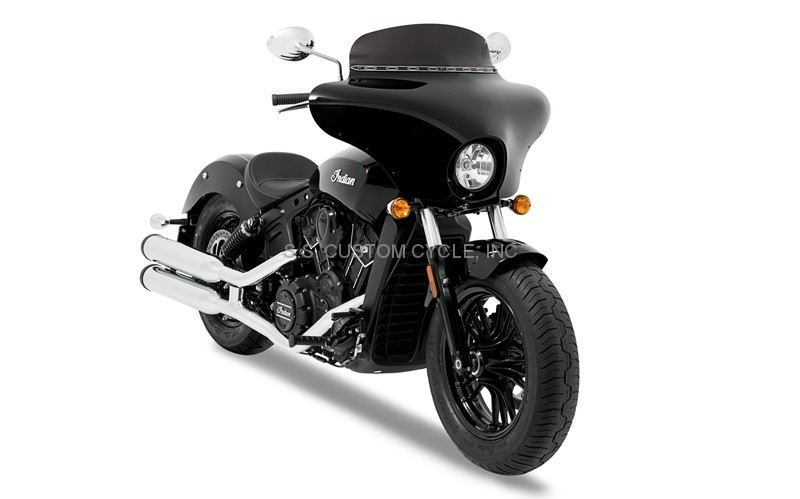 Memphis Shades Batwing For Indian Scout on Custom Yamaha Road Star Warrior