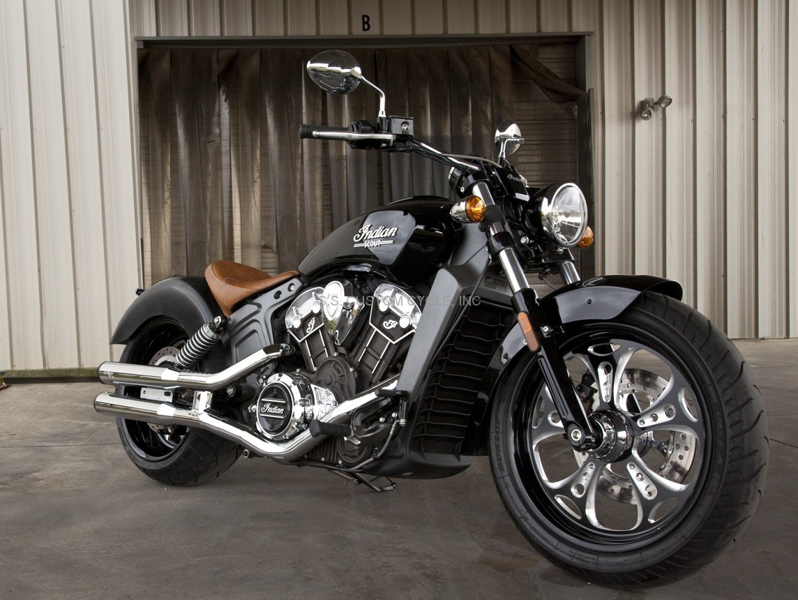 Indian Scout 240mm Wide Tire Kit Ss Custom Cycle
