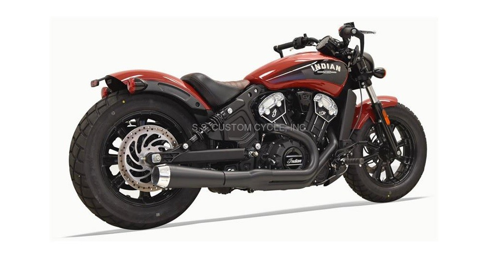 ROAD RAGE BLACK 2 INTO 1 EXHAUST SYSTEM - SS Custom Cycle