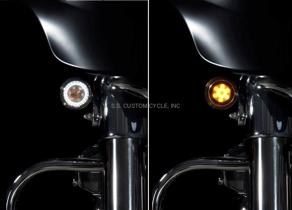 Probeam Dynamic Ringz Front Turn Signals Ss Custom Cycle