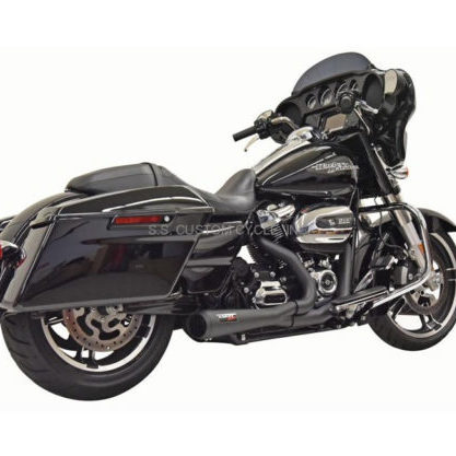 BASSANI ROAD RAGE SHORT 2 INTO 1 EXHAUST M8 BLACK