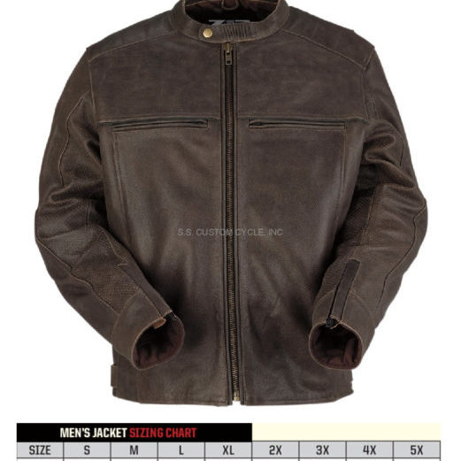Z1R INDIANA BROWN LEATHER JACKET